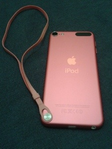 My Itouch with the cute pink strap on.
