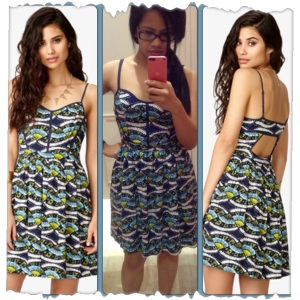 FOREVER21 Cutout Batik Dress Errr... just don't mind me in the middle. I look horrible in dressing rooms. :p